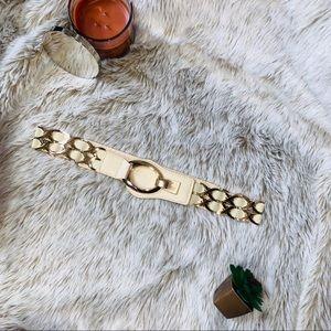 Cream Belt with Gold Hardware